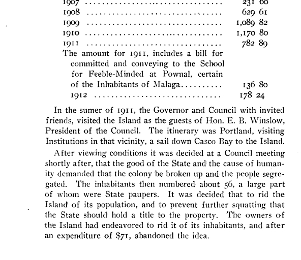 July 1, 1912 Maineu0027s 42-acre Malaga Island founded by Benjamin - evaluation report