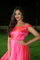 Actress Pujita Ponnada in beautiful red dress at Darshakudu music launch ~ Celebrities Galleries 050.JPG