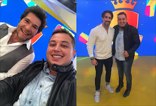 Humorista paraibano Renan da Resenha grava programa Legendários, da Record TV