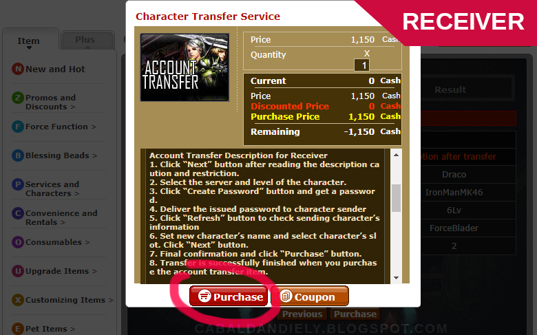 Cabal Account Transfer Guide