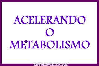 Como emagrecer acelerando o metabolismo
