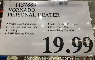 Deal for the Vornado Personal Vortex Heater (model EVH201) at Costco