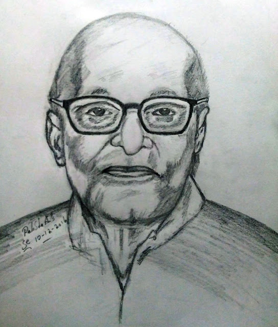 PENCIL DRAWING - C. Rajagopalachari