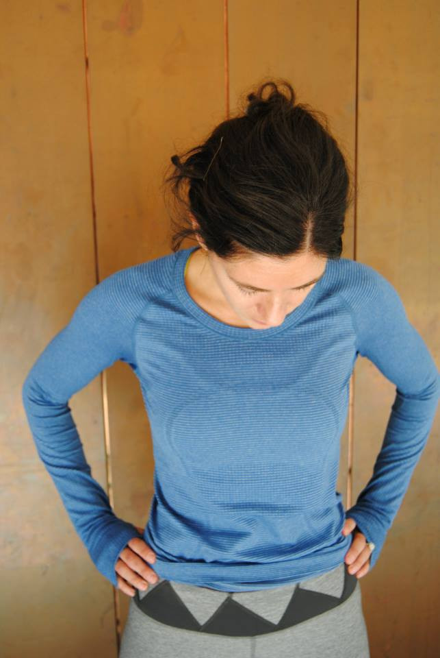 lululemon rugged blue swiftly long sleeve
