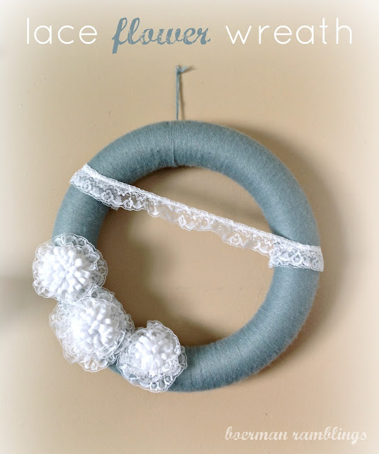 lace flower wreath