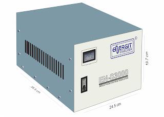 Medidas de estabilizador solido de 3000W 3 kW / 3 kVA - 220vac - Marca Energit