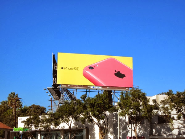 Pink iPhone 5c wave 2 billboard