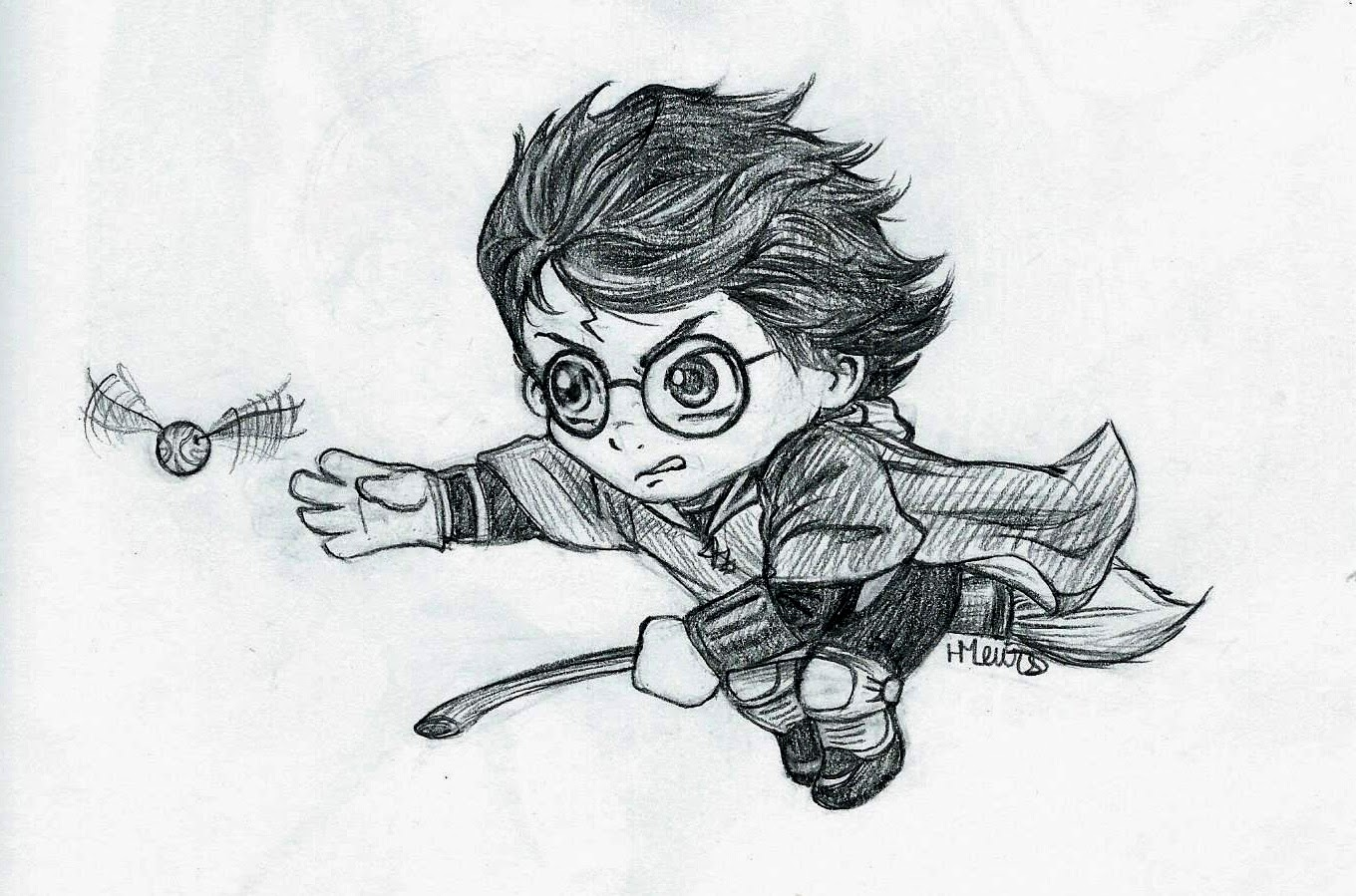 It's just a picture of Sweet Harry Potter Snitch Drawing
