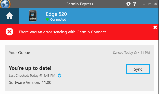 How to fix Garmin Express syncing errors: How to fix: There