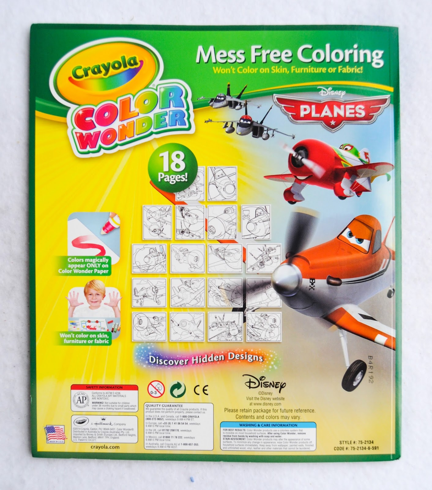 crayola color wonder planes coloring pad and markers what u0027s