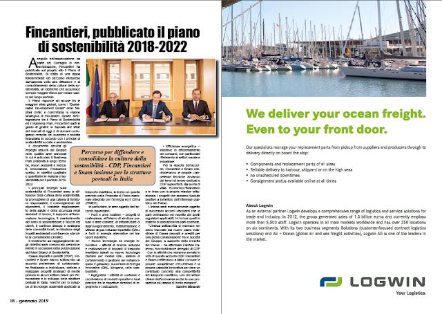 GENNAIO 2019 PAG. 18 - Fincantieri, pubblicato il piano di sostenibilità 2018-2022