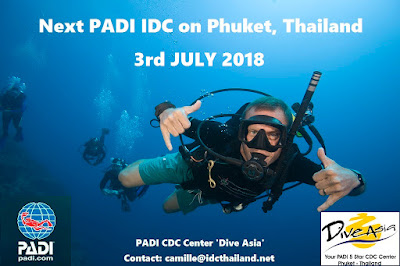 Next PADI IDC on Phuket starts 3rd July 2018