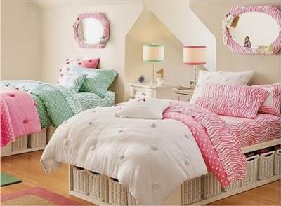 Habitaciones para dos ni as hermanas dormitorios colores - Habitacion dos ninas ...