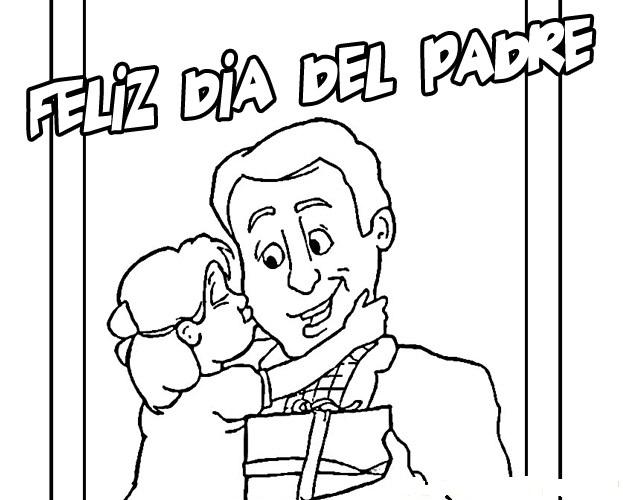 Dibujos Del Dia Del Padre Coloreados: COLOREA TUS DIBUJOS: Dibujo Del Día Del Padre Para Colorear