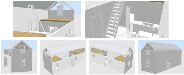 projekt domku na Sweet Home 3D