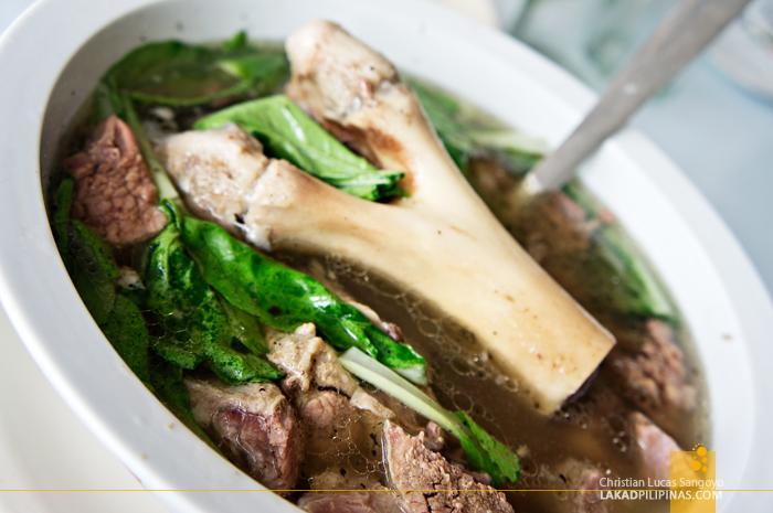 A Bown of Bulalo Soup at Tagaytay's Mahogany Market Bulalohan