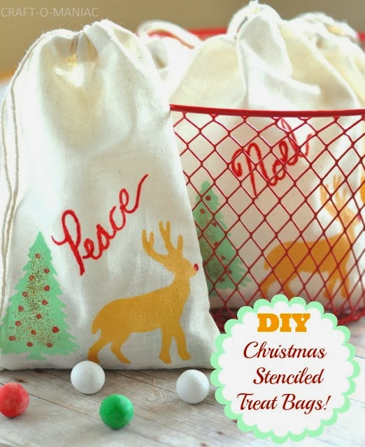 DIY Christmas Stenciled Treat Bags - Craft-O-Maniac