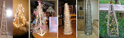Click to see the various styles of Tobacco Stick Trees I've made