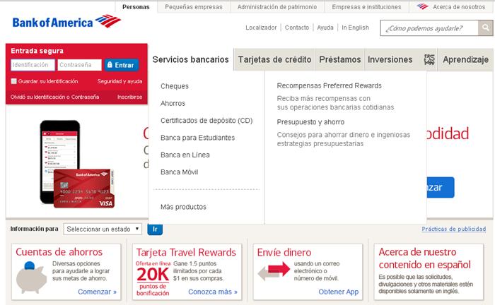 bank of america crear cuenta en linea