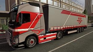 Volvo NSB skin + trailer mod