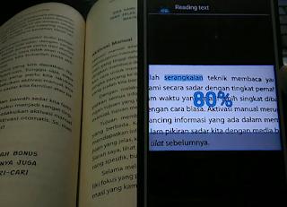 cara ambil dan salin teks di buku ke hp