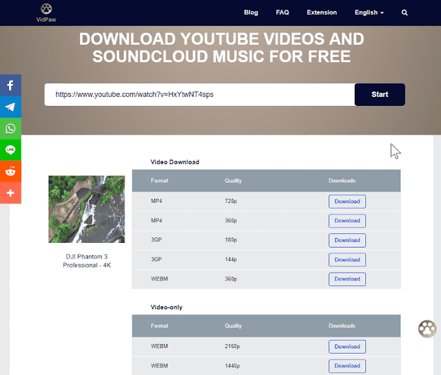 download video menggunakan vidpaw
