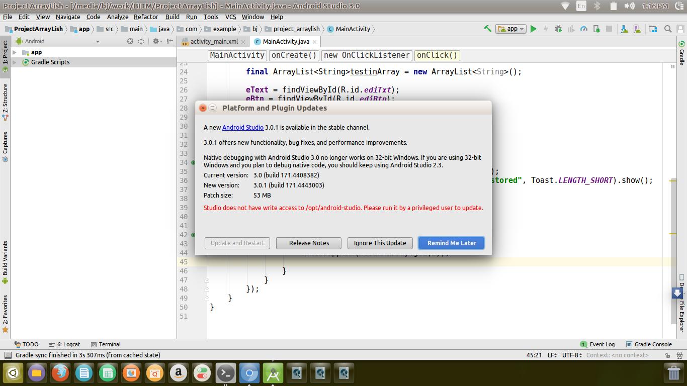 android studio for ubuntu 16.04 lts