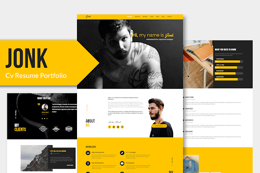 JONK - CV Resume Personal Muse Template