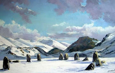 Day twenty one art advent Castlerigg stone circle
