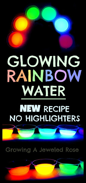 Glowing water recipe