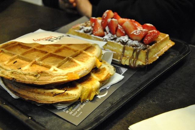 3 Fromages Waffeln von der Waffle Factory in Brüssel
