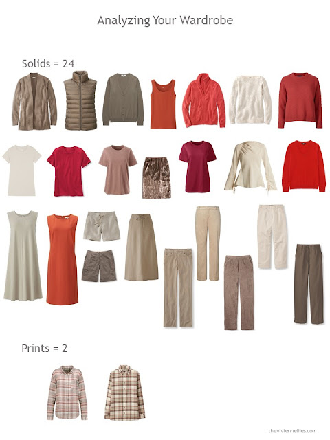 evaluating a wardrobe for solid garments vs prints