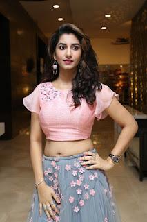 Telugu actress Vishnu Priya Bhimneni looking amazingly beautiful and hot in grey skirt and pink top navel show Navel Queens