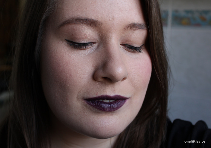 One Little Vice Beauty Blog: Mac Dark Purple Lipstick Review