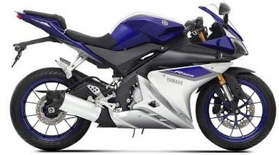Yamaha YZF R125 blue & white HD Wallpapers
