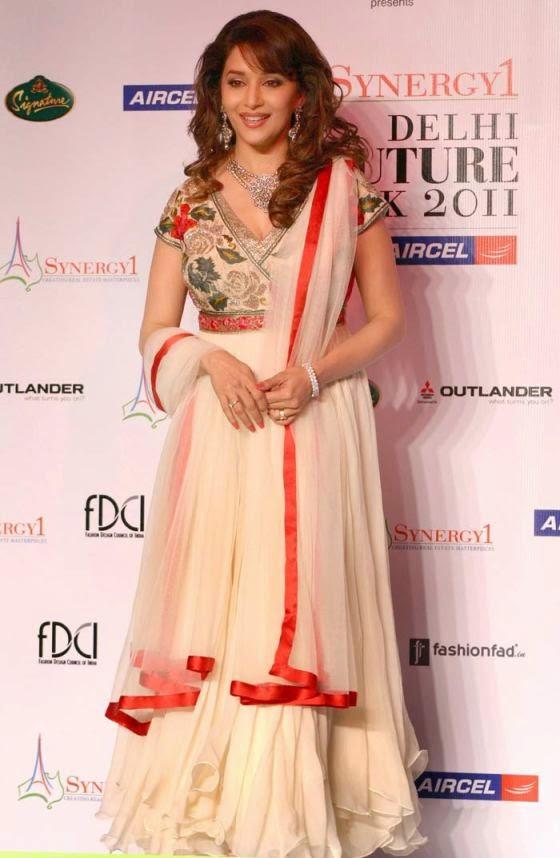 Madhuri Dixit in Varun Bahl Designer Anarkali Suit
