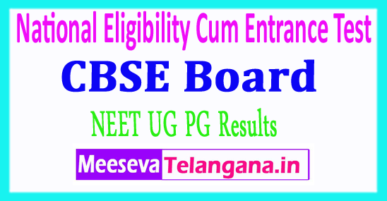 NEET National Eligibility cum Entrance Test Result CBSE NEET PG UG Results 2018