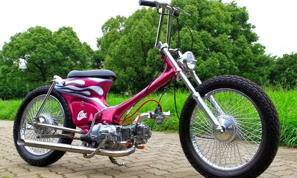 referensi modifikasi motor honda bebek 70