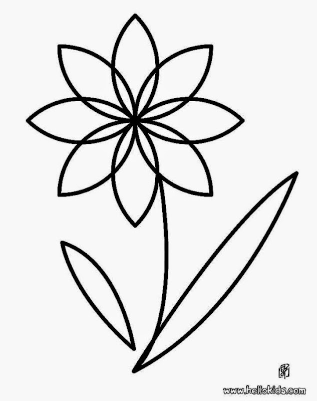 Coloring picture of a flower free coloring pictures for Flower coloring pages for preschoolers