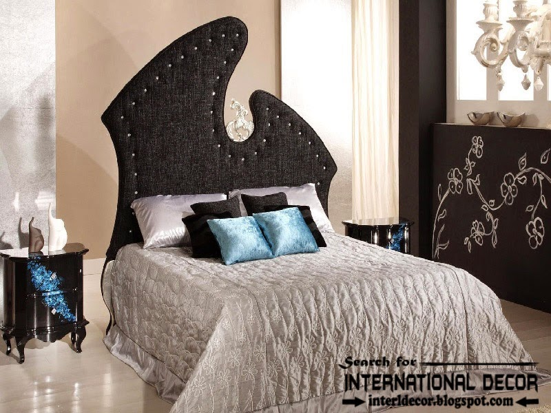luxury bedroom decorating ideas designs furniture 2015, luxury black headboard 2015