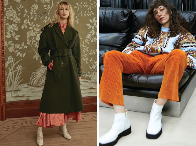 Сочетание красного и зеленого, оранжевого и голубого цветов в одежде