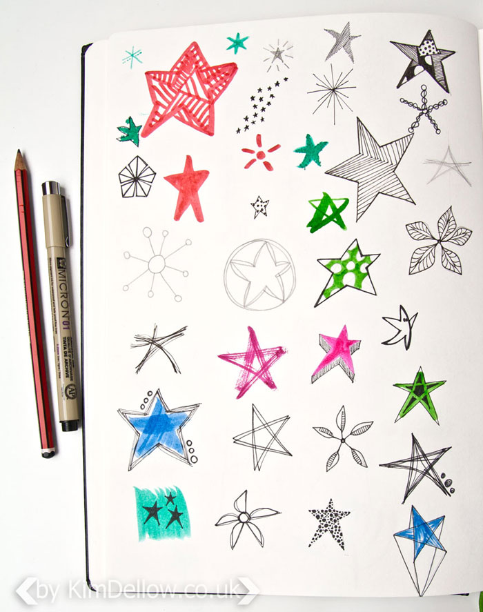 Dellow Daily Drawing Exercise - Stars