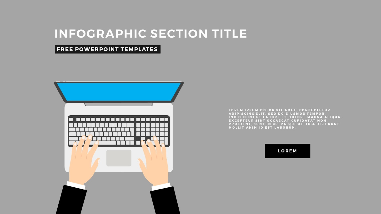 flat design section titles for free powerpoint templates
