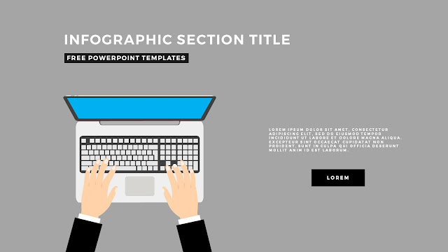 Flat Design Infographic Elements with Section Title for PowerPoint Template Slide 2