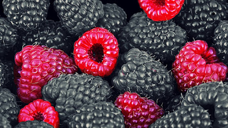 Blackberries and Raspberries Public Domain
