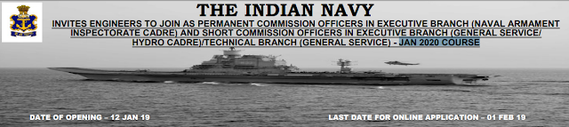 Indian Navy Engineer Recruitment 2019