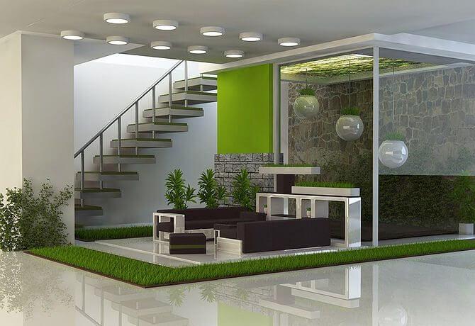 taman dalam rumah minimalis modern