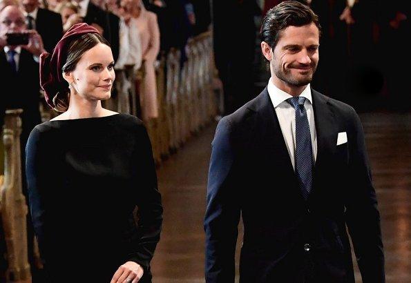 King Carl Gustaf, Queen Silvia, Crown Princess Victoria, Prince Daniel, Prince Carl Philip and Princess Sofia at Riksdag
