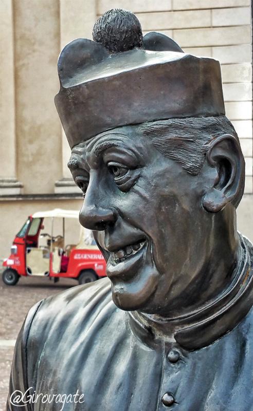statua don camillo brescello