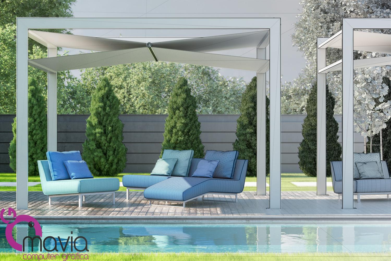 Esterni 3d rendering 3d architettura 3d rendering 3d for Outdoor giardino
